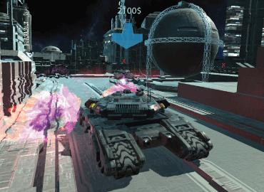Tank battle simulation