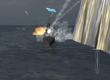 Underwater environment simulation